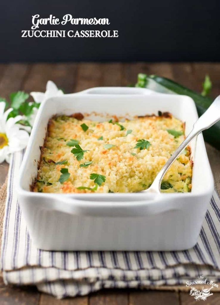 Garlic Parmesan Zucchini Casserole + Dinner with Barber Foods!