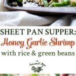 A collage image for honey garlic shrimp