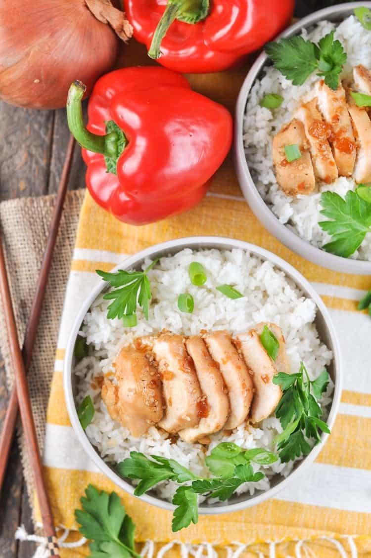 5-Ingredient Dump-and-Bake Chicken Teriyaki! Easy Dinner Recipes | Dinner Ideas | Chicken Recipes | Chicken Breast Recipes | Chinese Food | Chinese Recipes