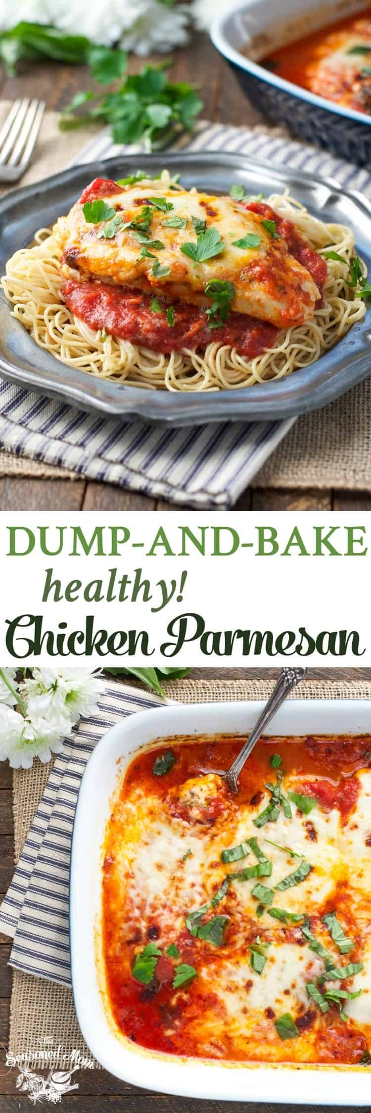 Dump and bake healthy chicken parmesan a video the seasoned mom no prep work necessary for this dump and bake healthy chicken parmesan dinner forumfinder Choice Image