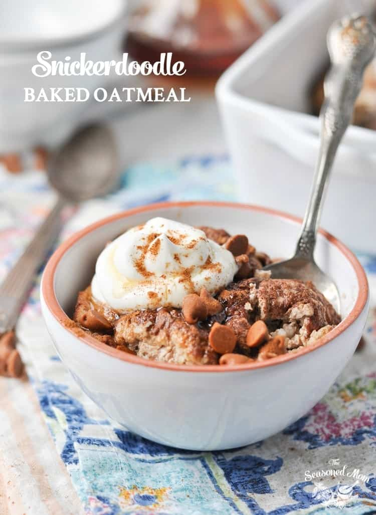 Healthy Snickerdoodle Baked Oatmeal | Breakfast Recipes | Healthy Breakfast Recipes | Oatmeal Recipes | Breakfast Ideas | Breakfast Casserole
