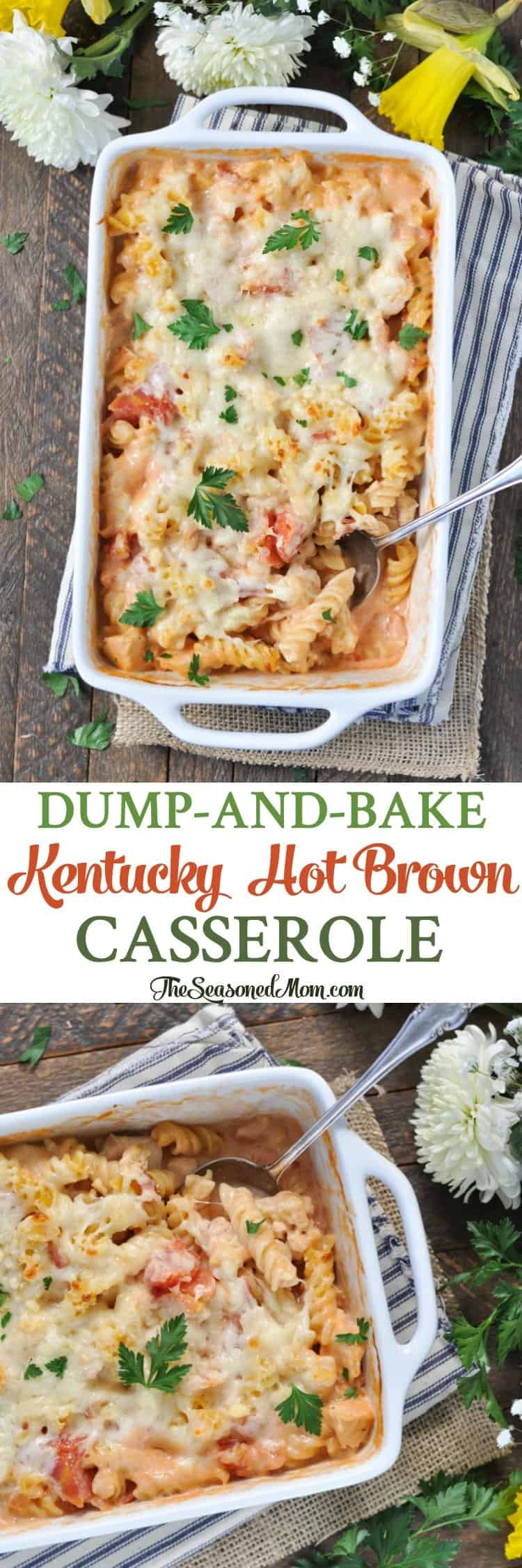 Dump-and-Bake Kentucky Hot Brown Casserole! Derby Party   Easy Dinner Recipes   Dinner Ideas   Pasta Recipes   Chicken Recipes   Turkey Recipes   Casserole Recipes