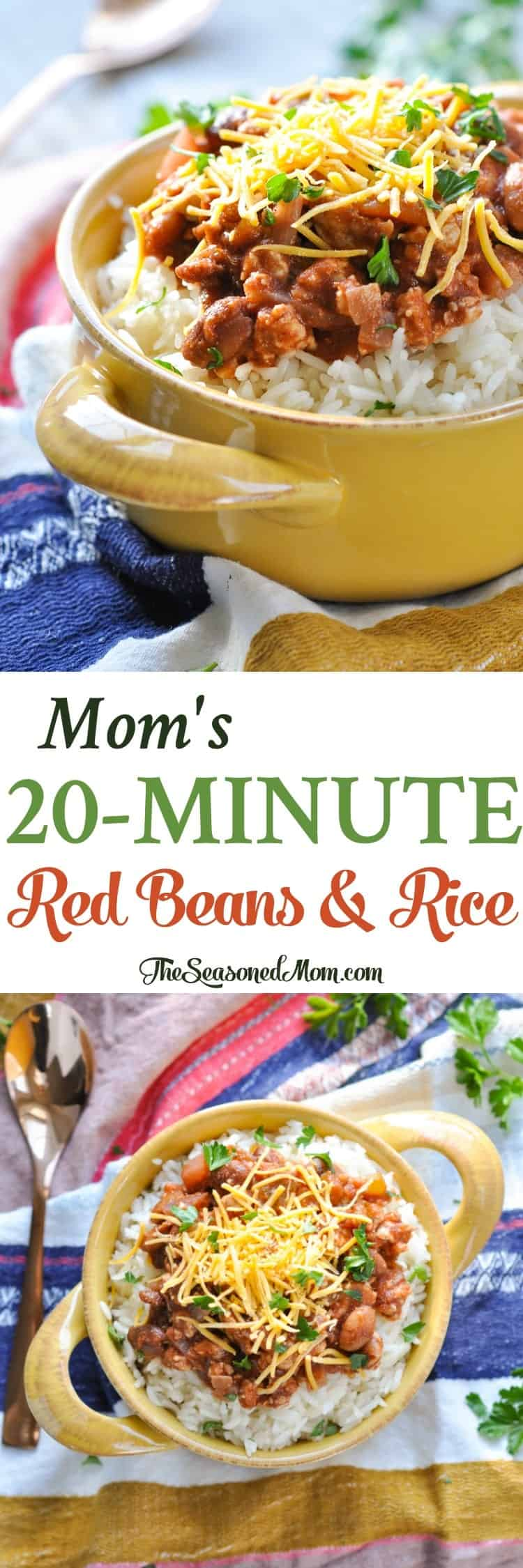 Mom S 20 Minute Red Beans And Rice Easy Dinner Recipes Dinner Ideas