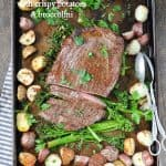 Sheet Pan Flank Steak with Crispy Potatoes and Broccolini