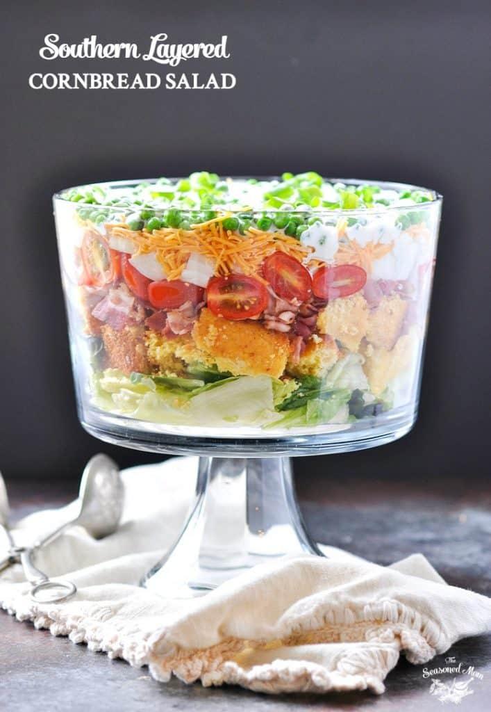 Southern Layered Cornbread Salad