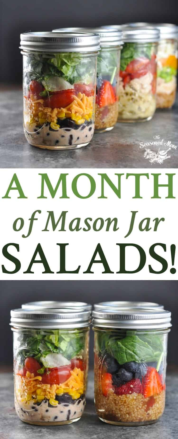 A month of mason jar salads the seasoned mom meal prep salad recipes meal prep for forumfinder Gallery