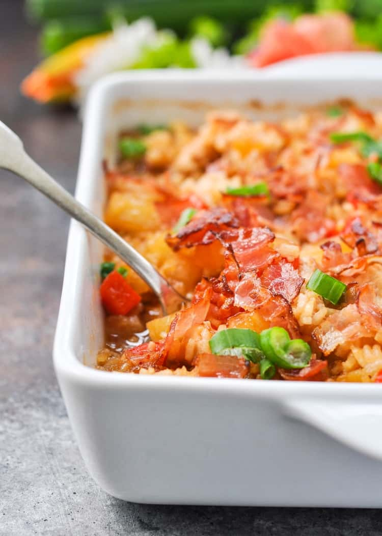 Dump And Bake Aloha Chicken And Rice Easy Dinner Recipes Dinner Ideas