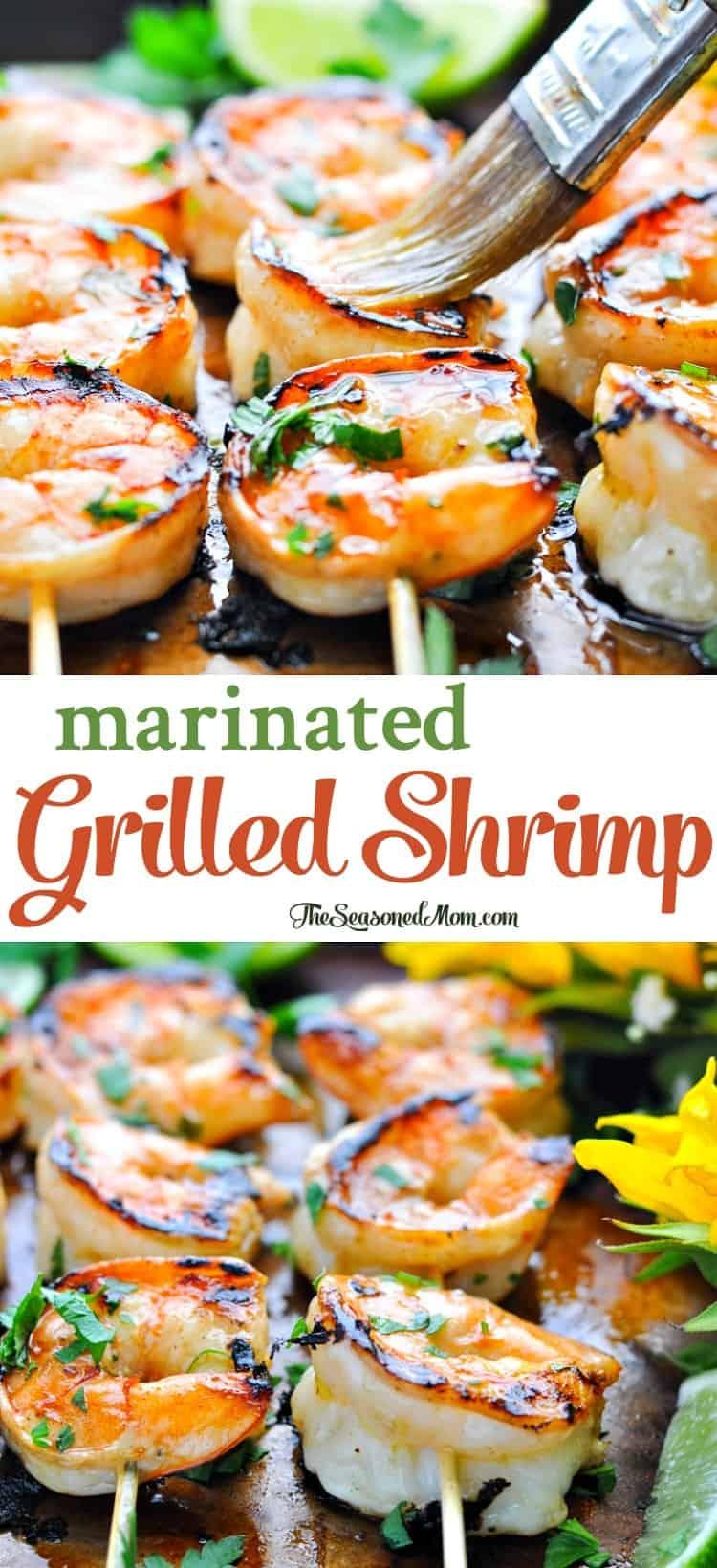 Marinated Grilled Shrimp   Easy Dinner Recipes   Healthy Dinner Recipes   Dinner Ideas   Shrimp Recipes   Grilling Recipes   Healthy Recipes   Seafood Recipes   Clean Eating Recipes   Clean Eating Dinner