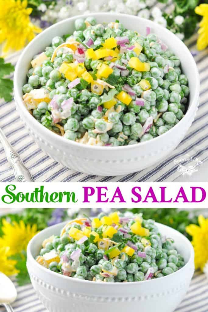 Long collage of Southern Pea Salad