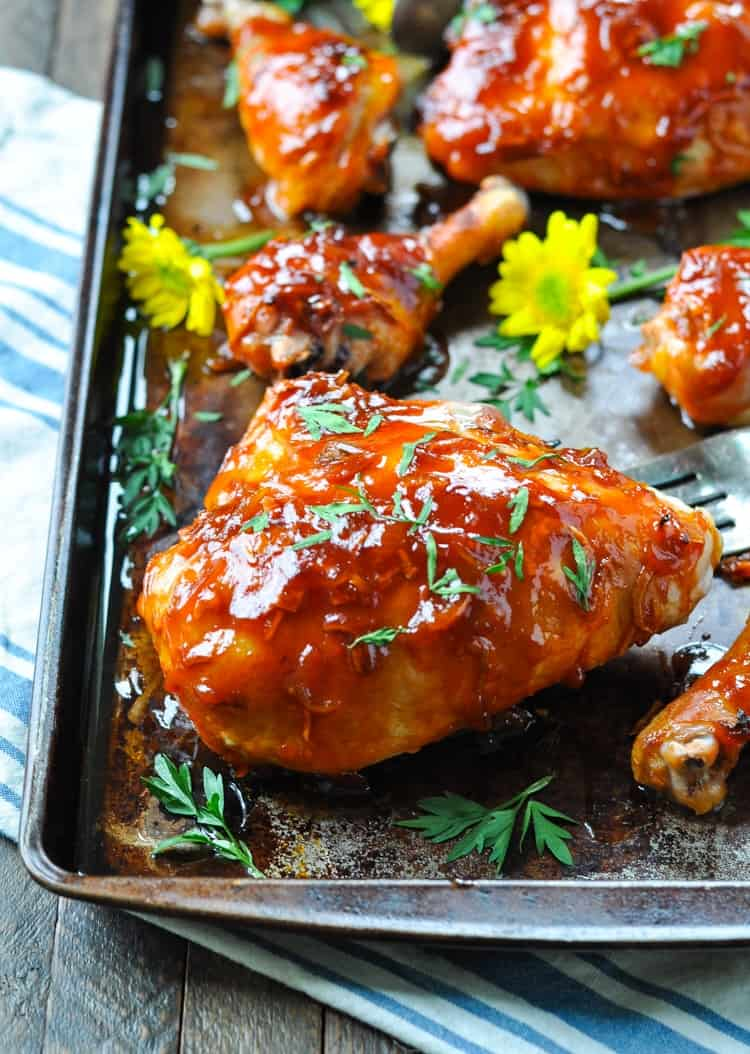 3-Ingredient Apricot Glazed Chicken - The Seasoned Mom