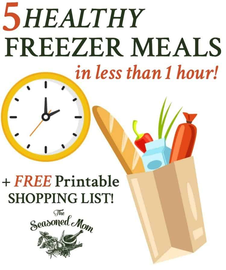 5 Healthy Freezer Meals in Less Than 1 Hour! Dinner Ideas | Easy Dinner Recipes | Healthy Dinner Recipes | Dinner Recipes Healthy | Meal Prep | Slow Cooker Recipes | Slow Cooker Dinners | Chicken Recipes | Beef Recipes | Pork Recipes | Vegetarian Dinner Recipes | Seafood Recipes