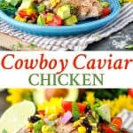 A collage image of cowboy caviar