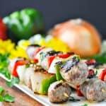 5-Ingredient Grilled Italian Sausage Kabobs