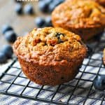 Whole Wheat Banana Blueberry Muffins