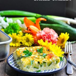 Zucchini & Parmesan Baked Omelet {+ Easy Zucchini Recipes!}