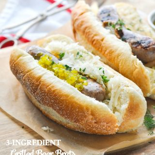 3-Ingredient Grilled Beer Brats + a Video!