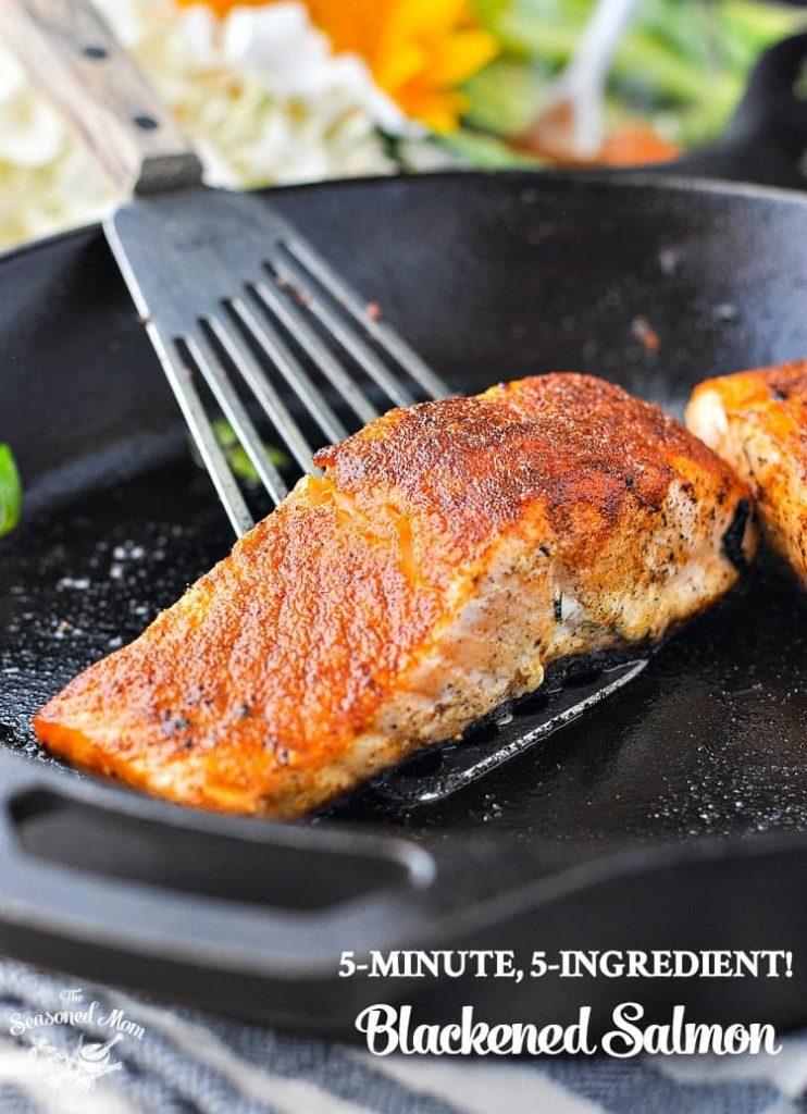5-Minute, 5-Ingredient Blackened Salmon