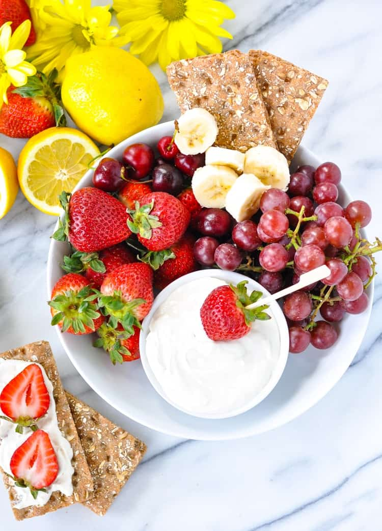 An easy summer snack for kids -- just serve this dip with fruit!