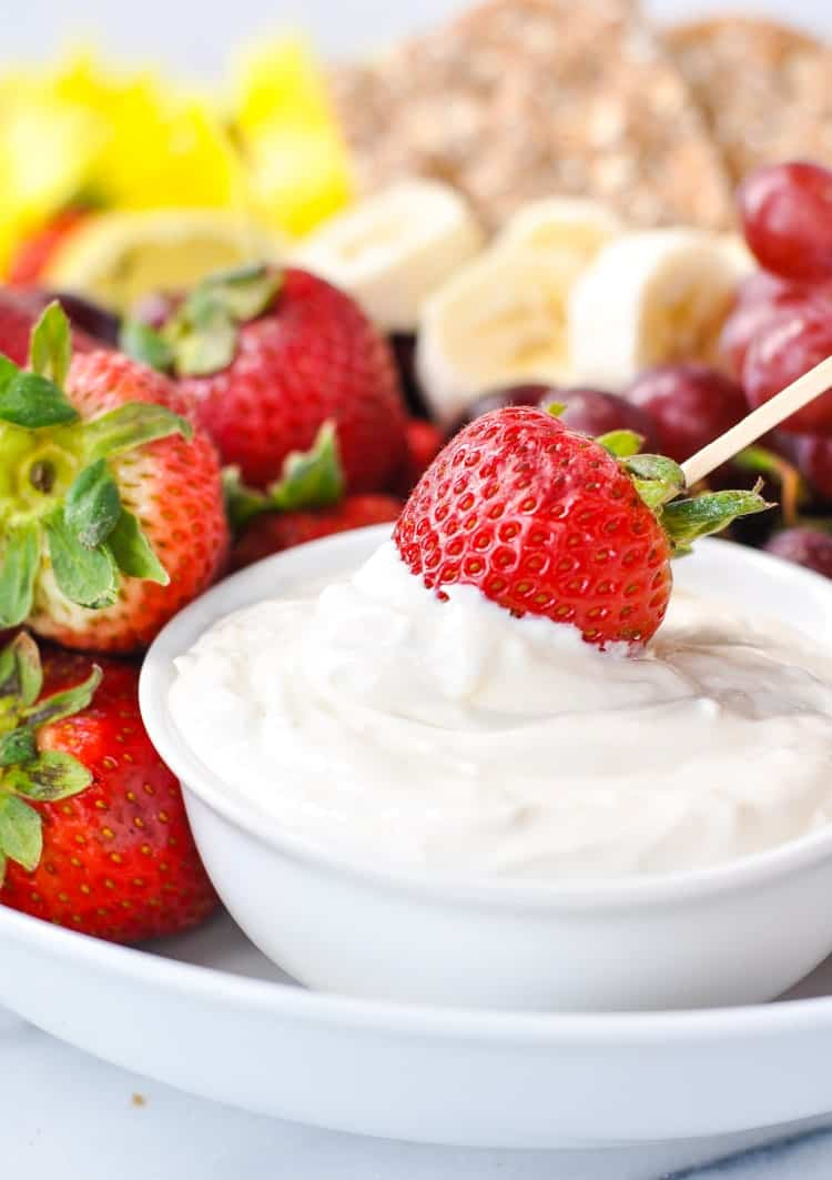 A healthy 4 ingredient fruit dip!