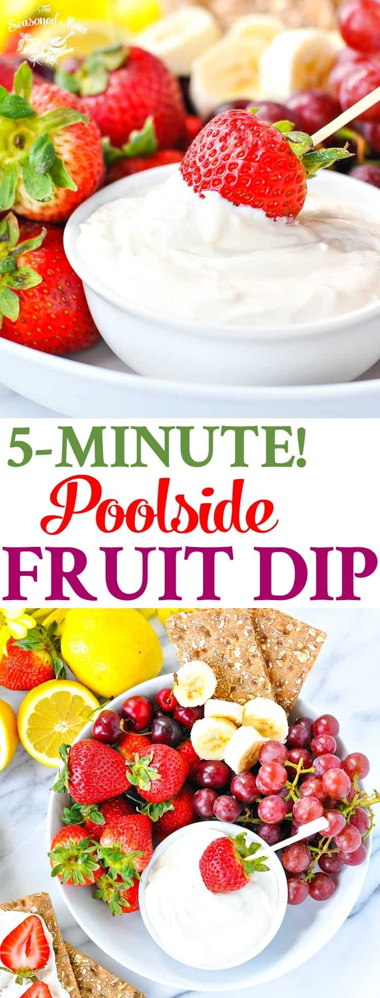 5-Minute Poolside Fruit Dip! Healthy Snacks for Kids | Snack Ideas | Snacks for Party | Snacks Healthy | Healthy 5 Ingredient or Less Recipes | Healthy Recipes | Healthy Snacks | Healthy Desserts | Dip Recipes | Dips | Appetizers | Gluten Free