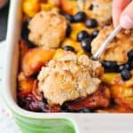 Healthy Blueberry Peach Cobbler + Our Week in Meals #32!