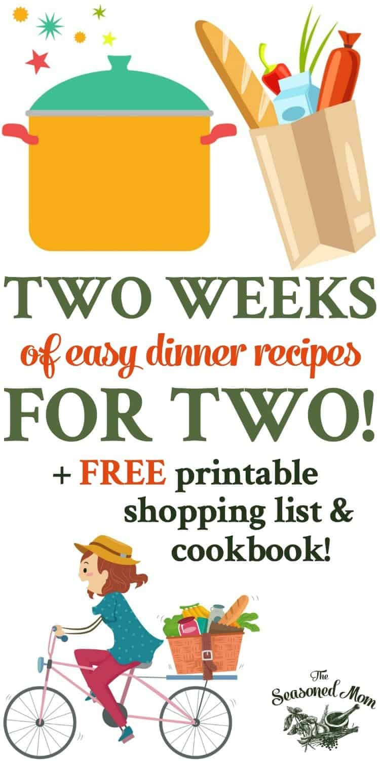 Two weeks of easy dinner recipes for two the seasoned mom for Dinner ideas for two quick and easy