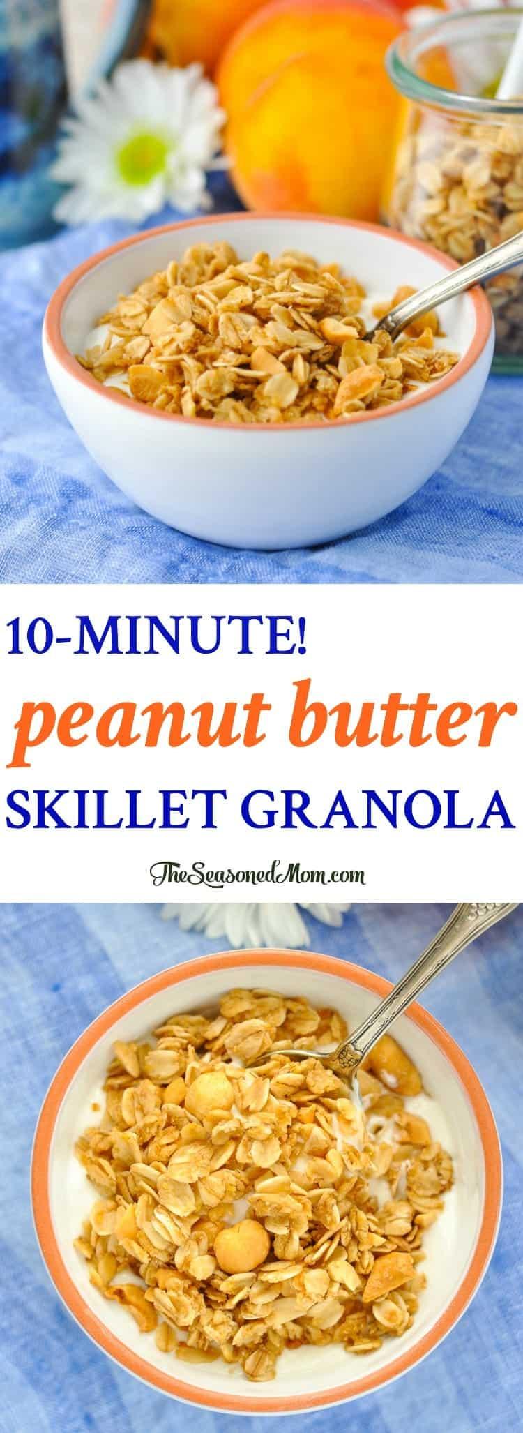 Try this 10-Minute Peanut Butter Skillet Granola for an easy breakfast recipe! Breakfast Ideas   Healthy Breakfast
