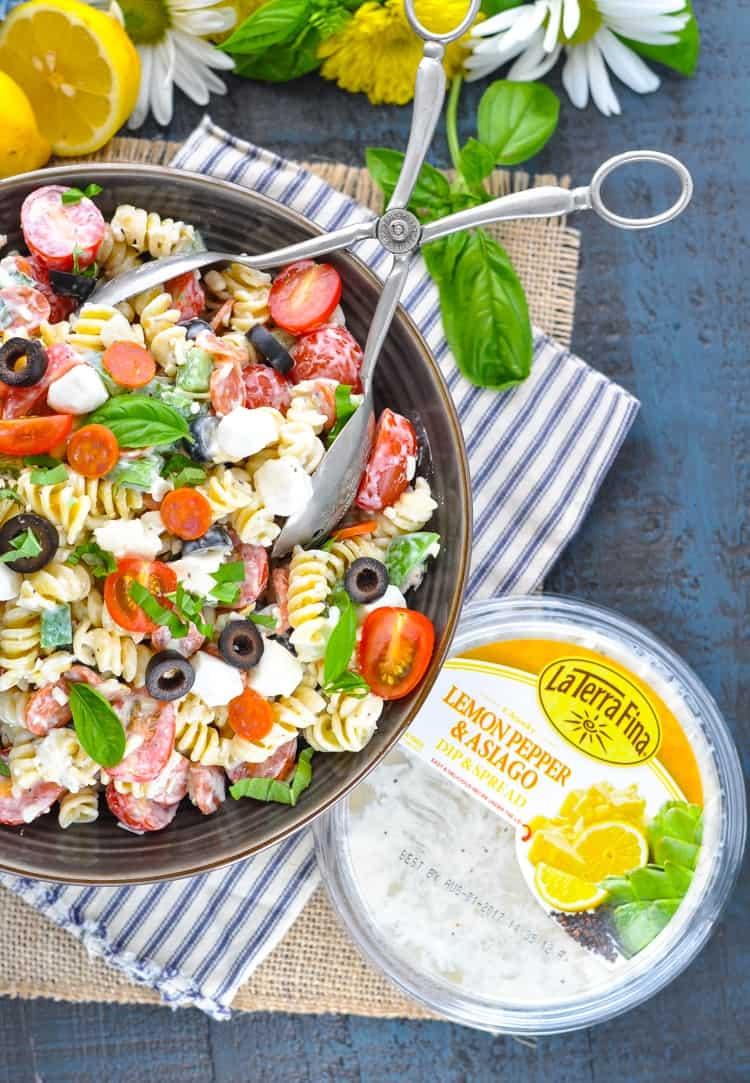 Creamy Italian Pasta Salad | Pasta Salad Recipes | Pasta Recipes | Pasta Salad with Italian Dressing | Easy Dinner Recipes | Potluck Recipes | Salad Recipes | Salads for Parties