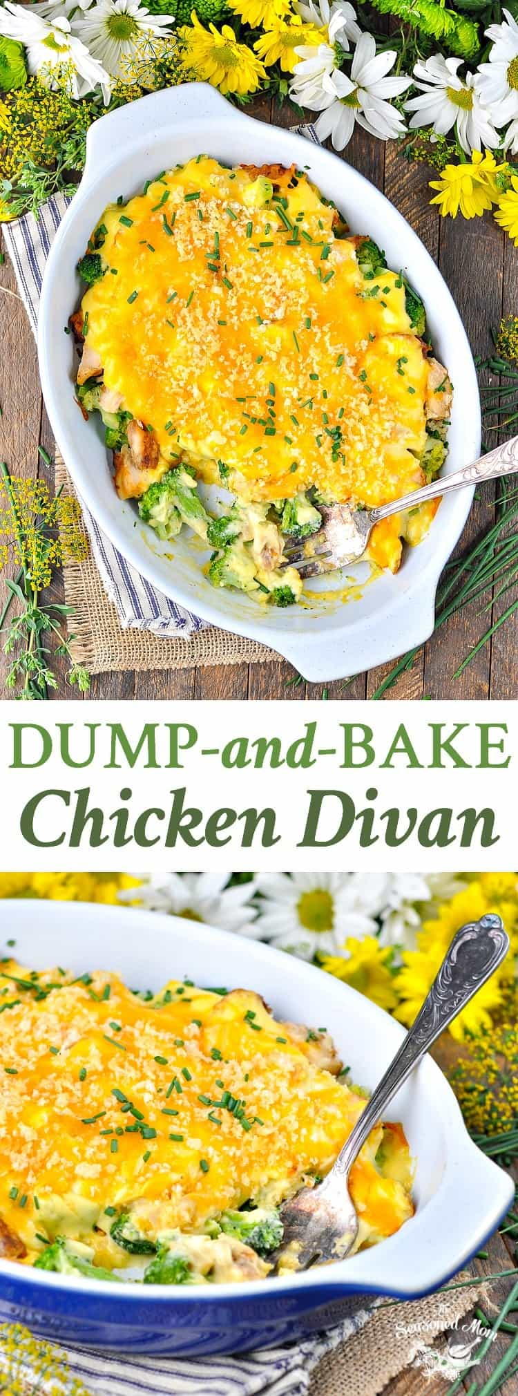 Dump and bake chicken divan the seasoned mom dump and bake chicken divan is an easy dinner recipe for busy nights forumfinder Choice Image