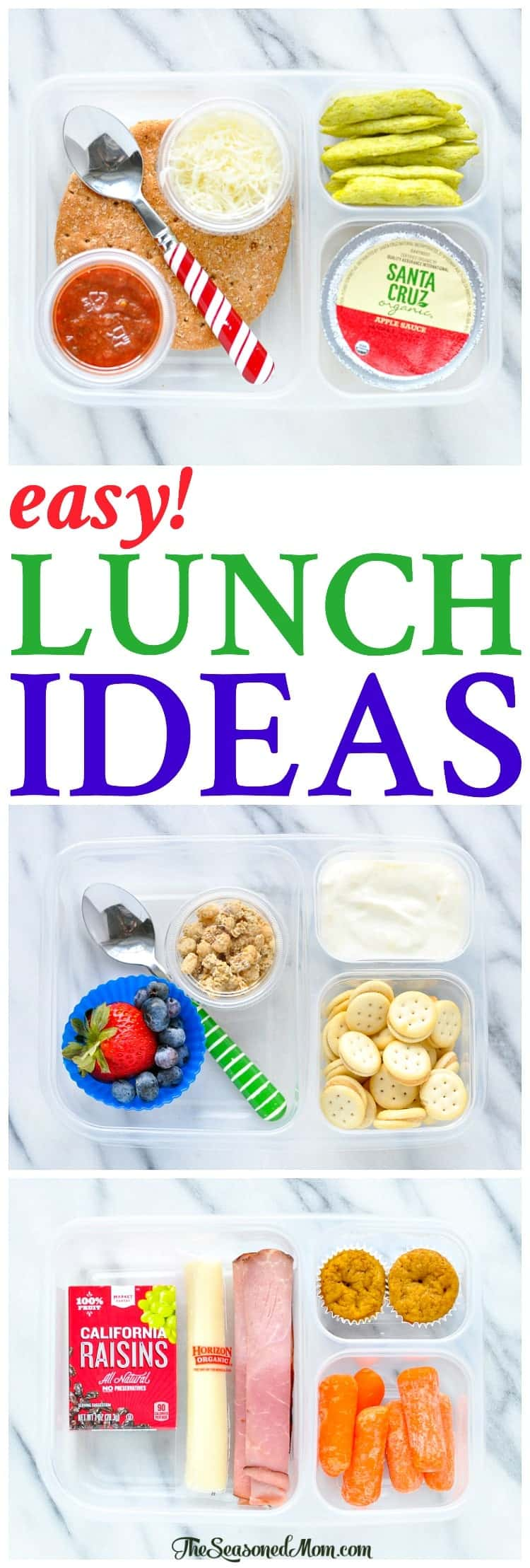 Love these easy lunch ideas for kids! Lunch Box Ideas | Lunch Recipes | Healthy Snacks | Healthy Lunch Ideas