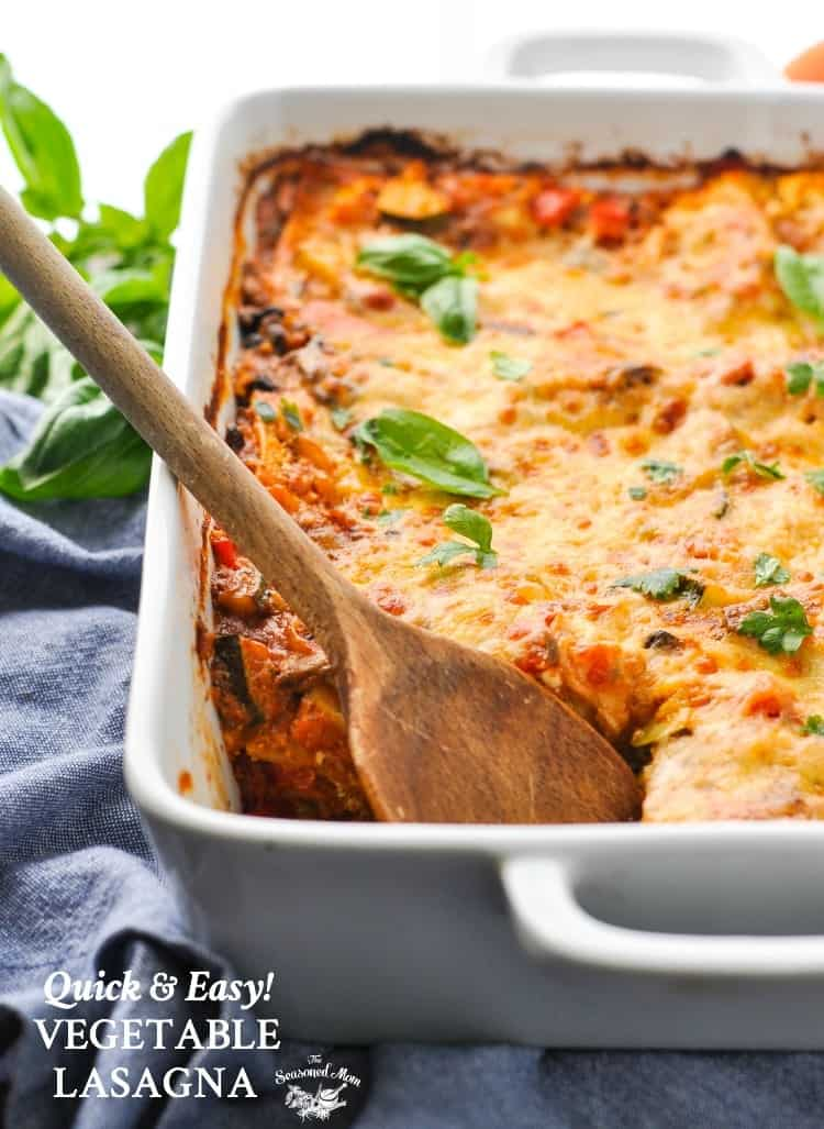 Quick and easy vegetable lasagna the seasoned mom easy dinner recipes healthy dinner recipes dinner ideas vegetarian forumfinder Images
