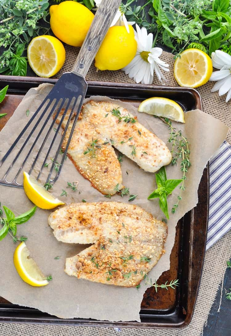5 Ingredient Almond Crusted Baked Tilapia Is A Healthy Easy Low Carb