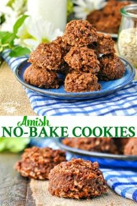 Long collage of Amish No Bake Cookies