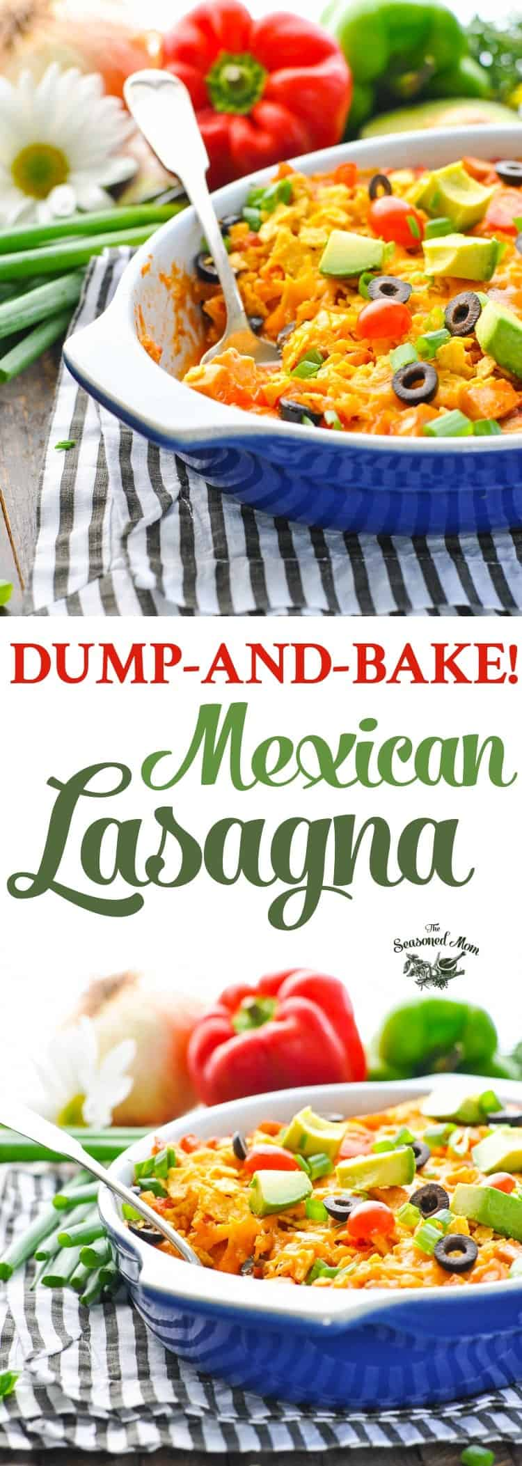 Dump and bake mexican lasagna the seasoned mom this dump and bake mexican lasagna is an easy dinner recipe that cooks in forumfinder Images