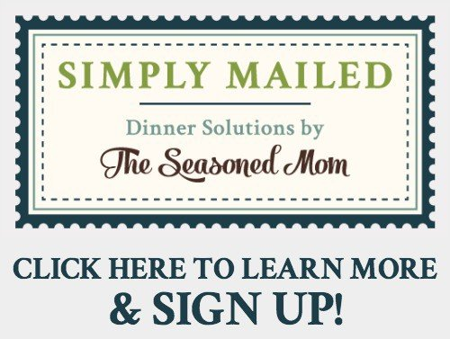 A graphic for Simply Mailed Meal Planning Service