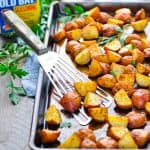 3-Ingredient Crispy Seasoned Red Potatoes + a Giveaway!