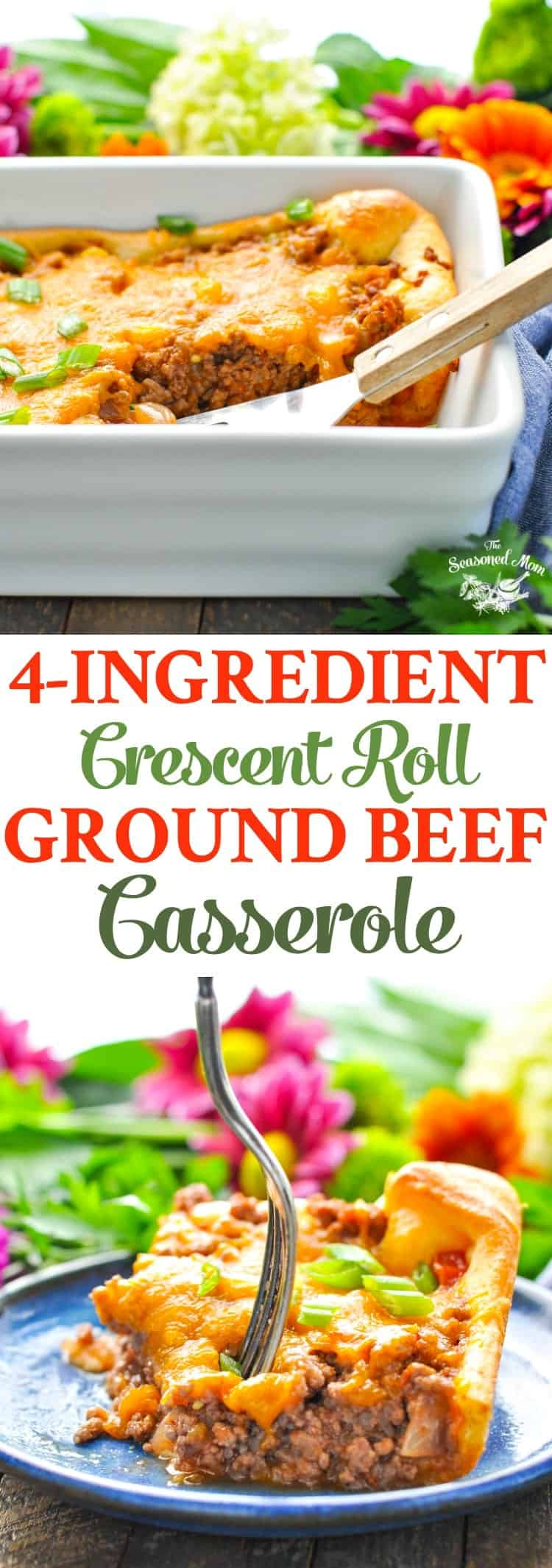4 ingredient crescent roll ground beef casserole the seasoned mom this 4 ingredient crescent roll ground beef casserole comes together in just minutes for an forumfinder Images