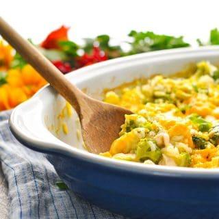 Dump-and-Bake Chicken Broccoli Rice Casserole
