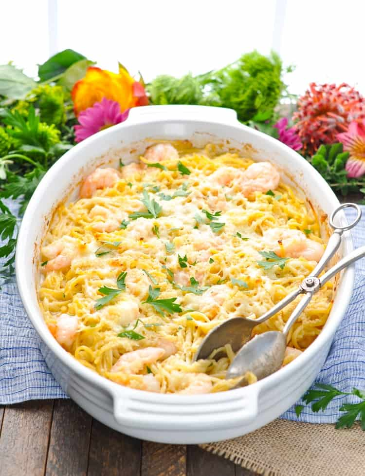 Shrimp Scampi Linguine Dump And Bake The Seasoned Mom