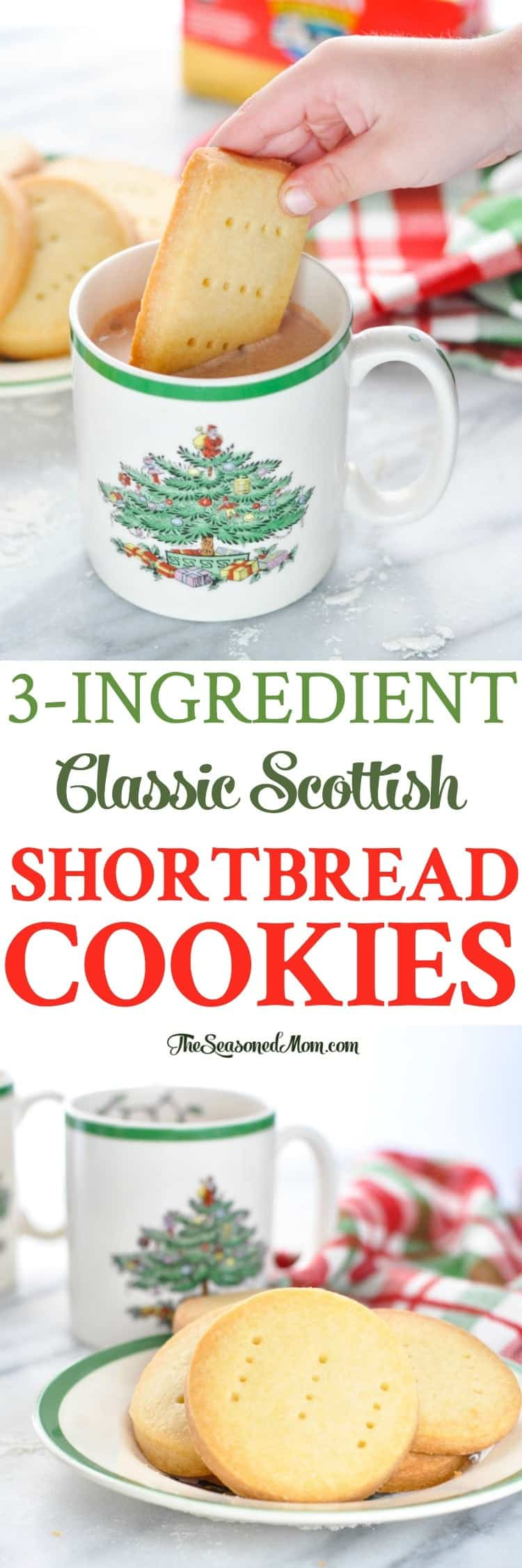 3 ingredient classic scottish shortbread cookies a for Easy holiday baking recipes for gifts