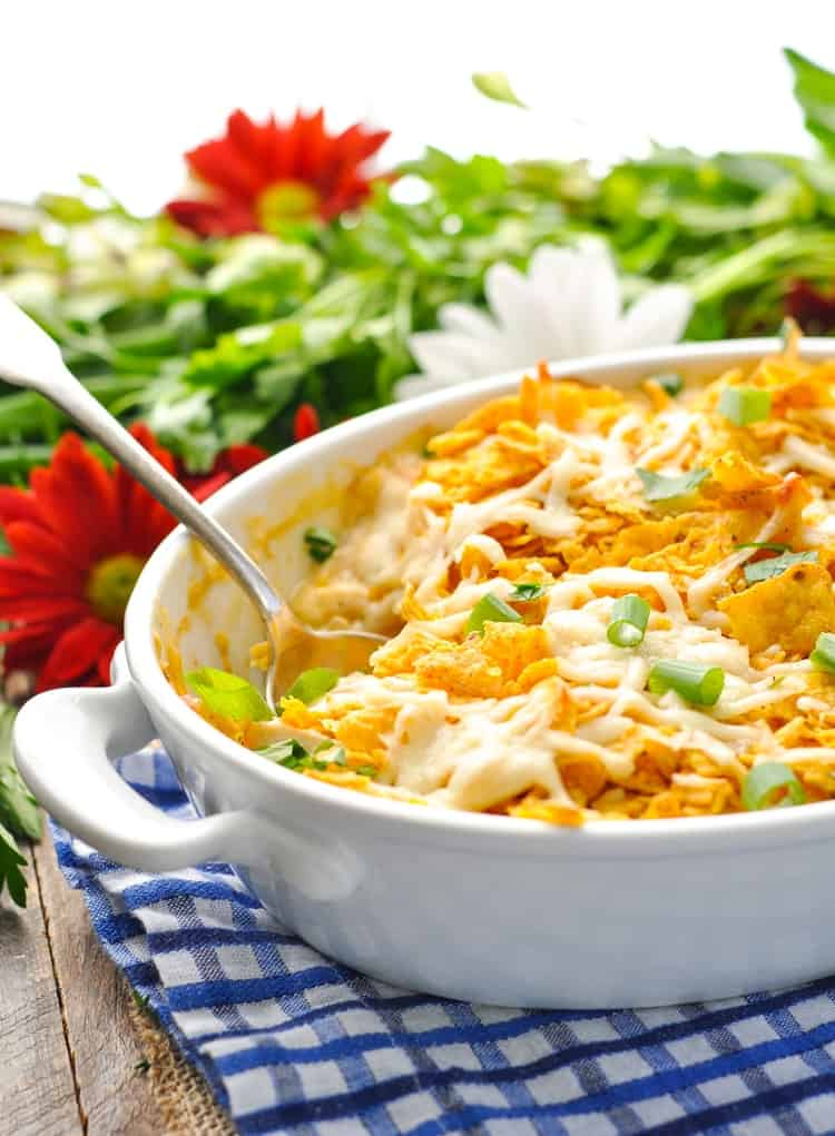 Dump And Bake Cool Ranch Chicken Casserole The Seasoned Mom