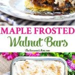 Maple Frosted Walnut Bars are the perfect easy holiday dessert recipe