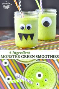 A long collage image of a Monster Green Smoothie