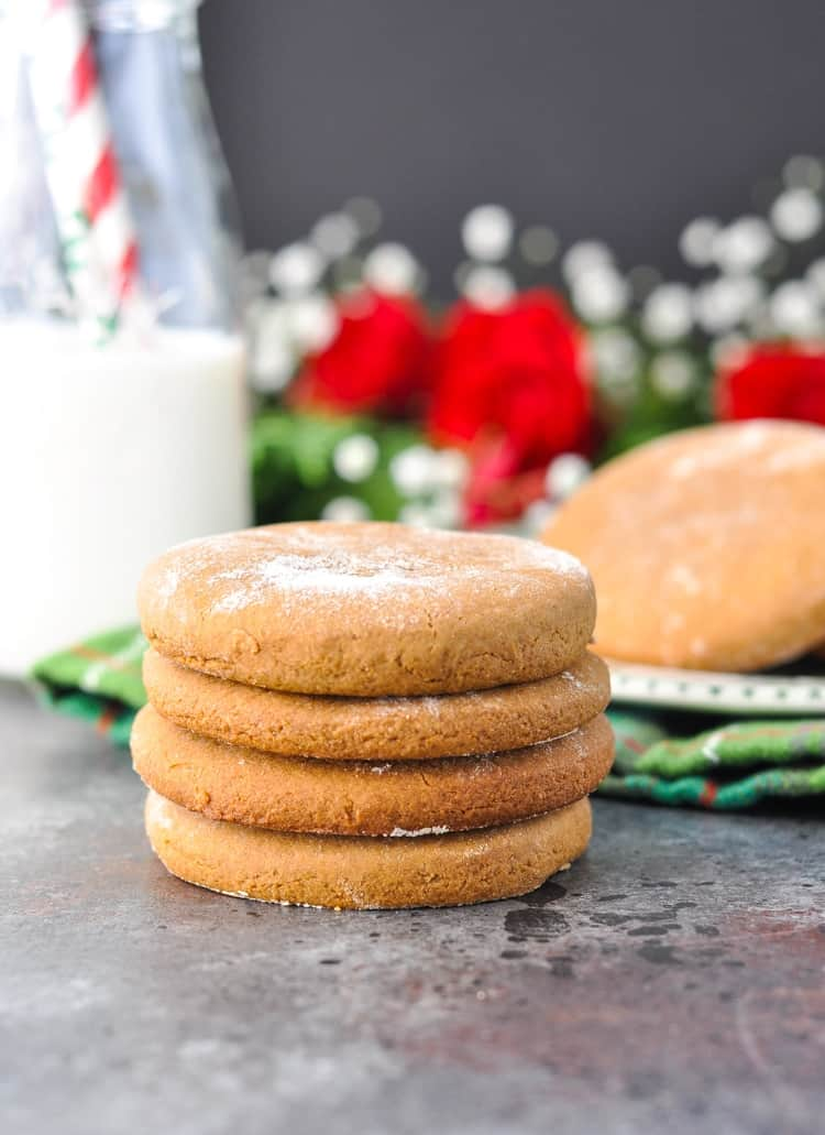 Old Fashioned Gingerbread Cookies in a stack