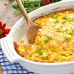 A close up of an easy breakfast casserole