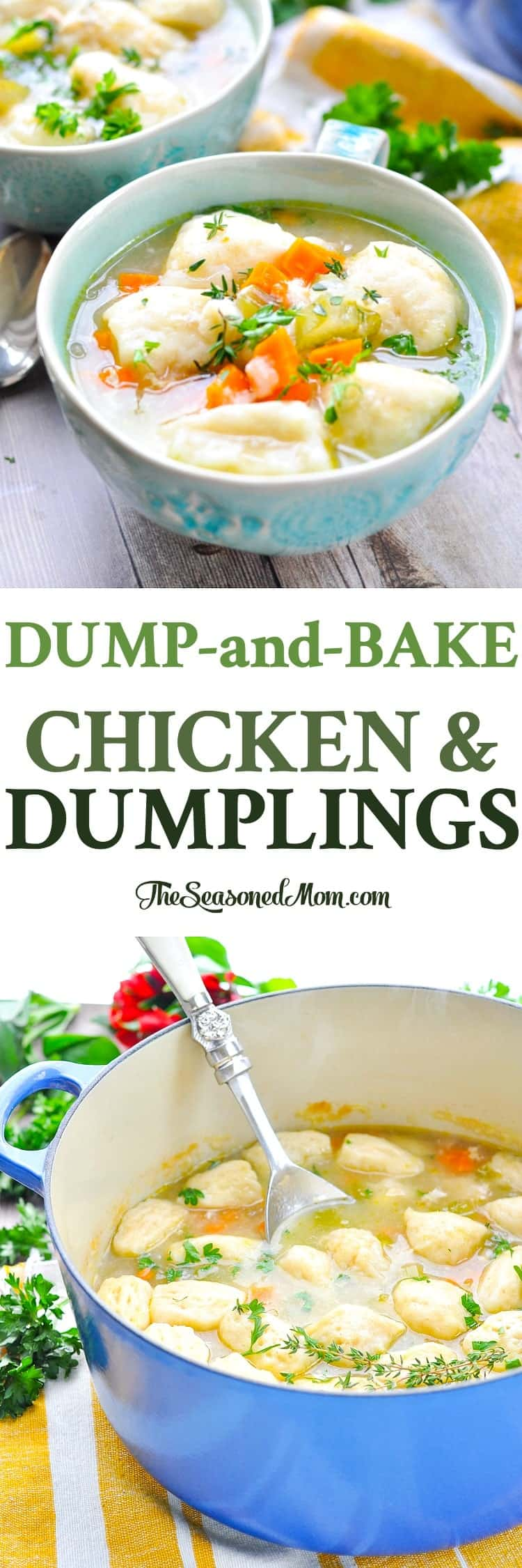 Dump and bake chicken and dumplings the seasoned mom dump and bake chicken and dumplings is a cozy one pot meal easy forumfinder Gallery