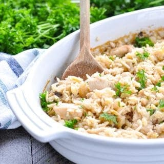 Dump-and-Bake Chicken and Rice Pilaf