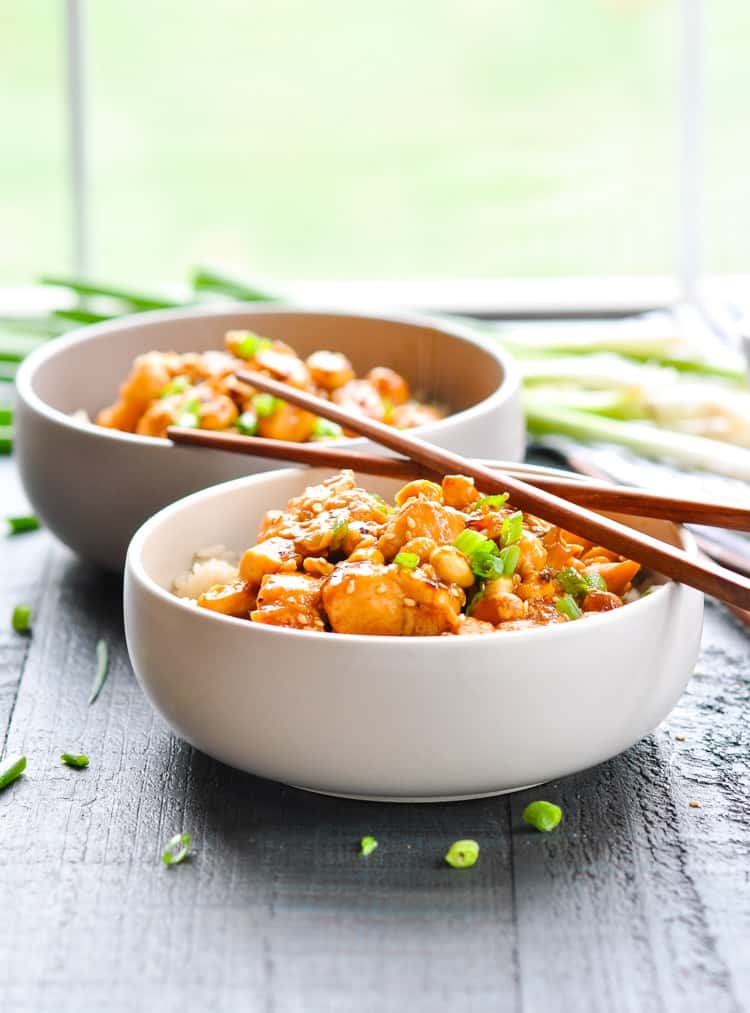 This Dump-and-Bake General Tso Chicken is a healthier and easier version of the classic Chinese food! Chicken Breast Recipes | Easy Dinner Recipes | Healthy Dinner Recipes #chicken #dinner #healthy