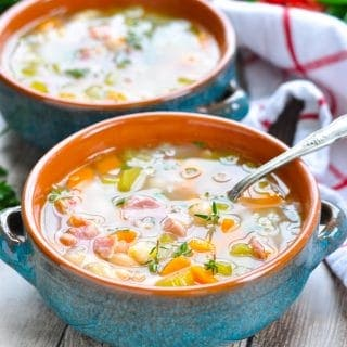 Easy Bean and Ham Soup {+ a Slow Cooker Option}