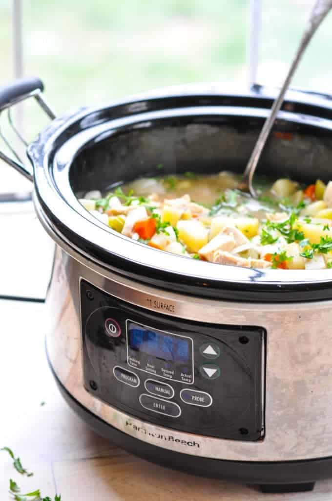 Healthy Chicken Stew in a slow cooker